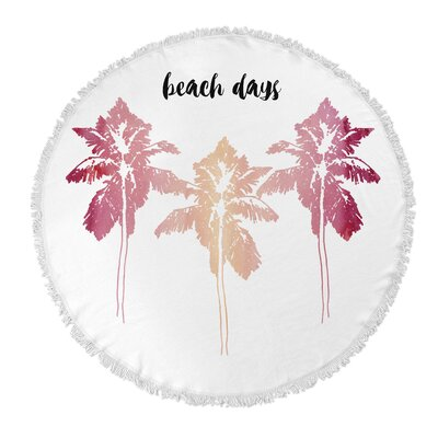 Beach Days Round Beach Towel