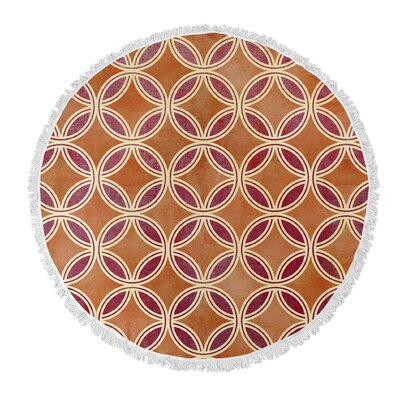 Geo Circle Round Beach Towel