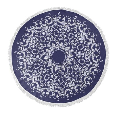 Bloomscroll Round Beach Towel