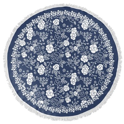 Floral Round Beach Towel