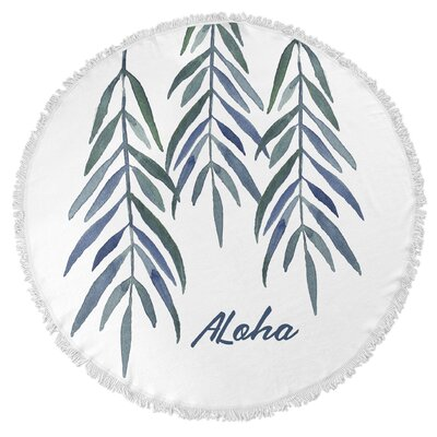 Aloha Round Beach Towel