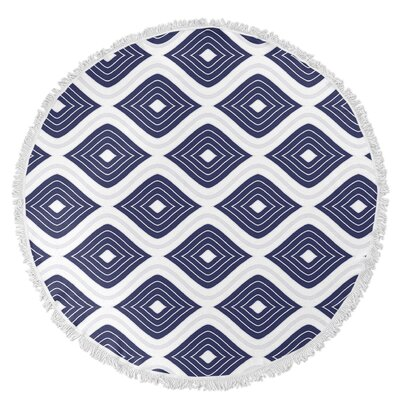 Ogee Inverted Round Beach Towel