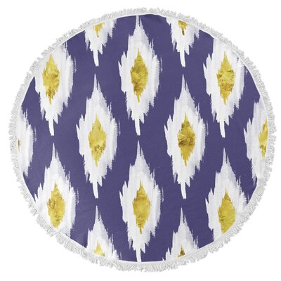 Abstract Abyss Round Beach Towel