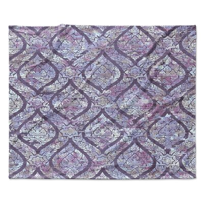 Purple Rain Fleece Throw Blanket Size: 30 W x 40 L