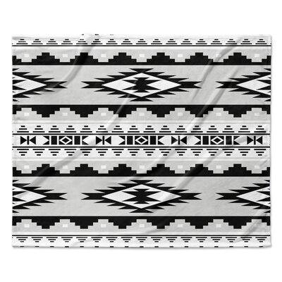 Cheroke Fleece Throw Blanket Color: Gray, Size: 50 W x 60 L