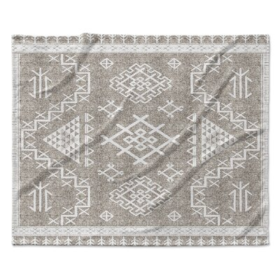 Cyrill Fleece Throw Blanket Color: White, Size: 60 W x 80 L