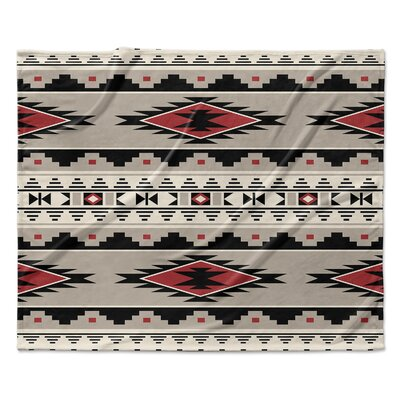 Cheroke Fleece Throw Blanket Color: Red, Size: 50 W x 60 L