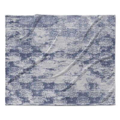 Milano Fleece Throw Blanket Color: Blue, Size: 30 W x 40 L