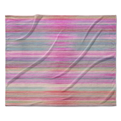 Abstract Sunset Fleece Throw Blanket Size: 90 W x 90 L