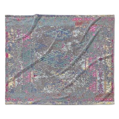 Cimarron Fleece Throw Blanket Color: Gray, Size: 30 W x 40 L