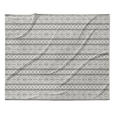 Marrakesh Fleece Throw Blanket Color: Gray, Size: 60 W x 80 L