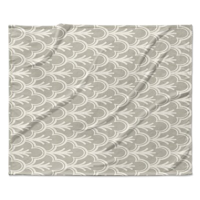 Seville Fleece Throw Blanket Color: Gray, Size: 60 W x 80 L