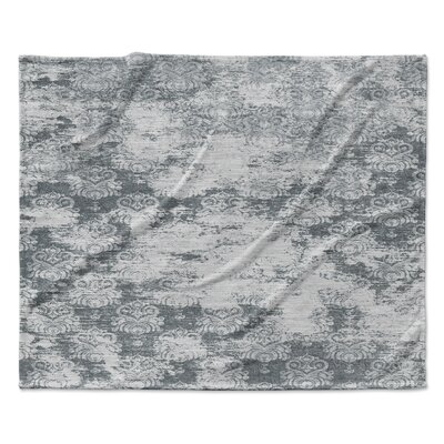 Milano Fleece Throw Blanket Color: Dark Gray, Size: 50 W x 60 L