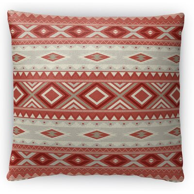 Cabarley Fleece Throw Pillow Size: 18 H x 18 W x 4 D, Color: Red