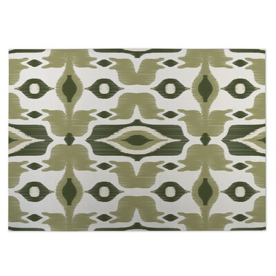 Cosmos Green Indoor/Outdoor Doormat Rug Size: 8 x 10