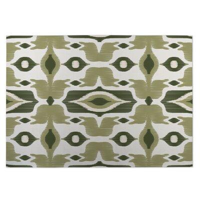 Cosmos Green Indoor/Outdoor Doormat Rug Size: 8 x 10