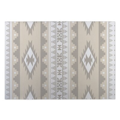Beige Indoor/Outdoor Doormat Rug Size: 5 x 7