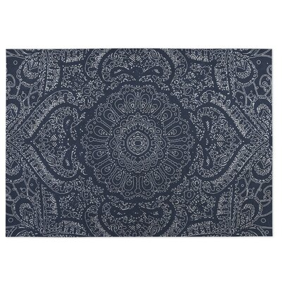Blue Indoor/Outdoor Doormat Mat Size: Rectangle 4 x 5