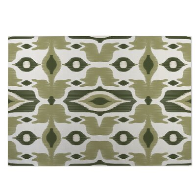 Cosmos Green Indoor/Outdoor Doormat Rug Size: 4 x 5