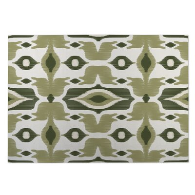 Cosmos Green Indoor/Outdoor Doormat Rug Size: 5 x 7