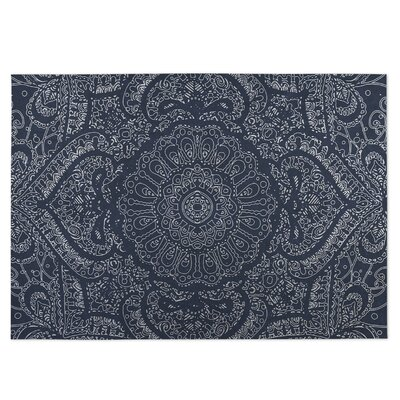 Blue Indoor/Outdoor Doormat Mat Size: Rectangle 8 x 10