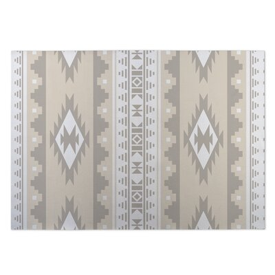 Beige Indoor/Outdoor Doormat Rug Size: 8 x 10