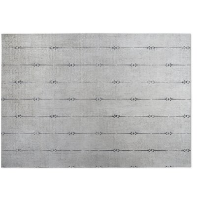 Lineage Gray Indoor/Outdoor Doormat Rug Size: 8 x 10