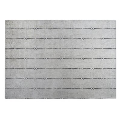 Lineage Gray Indoor/Outdoor Doormat Rug Size: Square 8