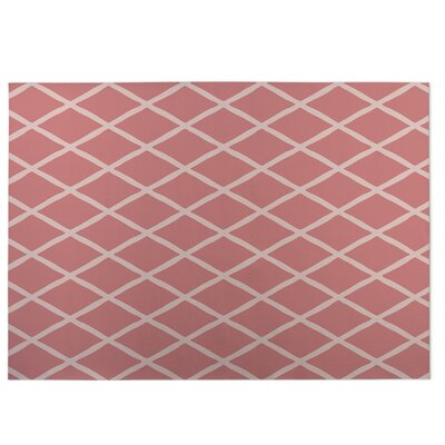 Lattice Work Pink Indoor/Outdoor Doormat Rug Size: 4 x 5