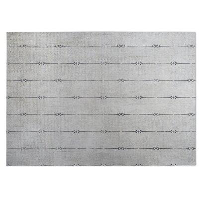 Lineage Gray Indoor/Outdoor Doormat Rug Size: 5 x 7