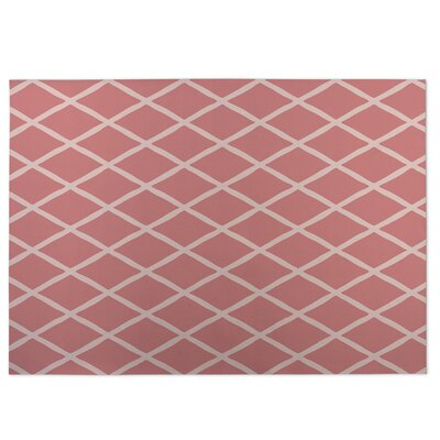 Lattice Work Pink Indoor/Outdoor Doormat Rug Size: 5 x 7