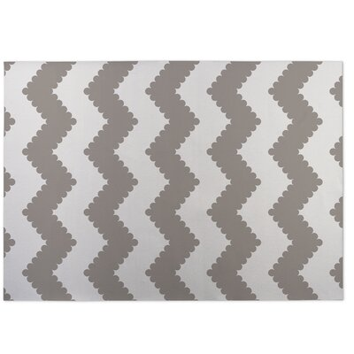 Play Chevron Beige/Brown Indoor/Outdoor Doormat Rug Size: Square 8