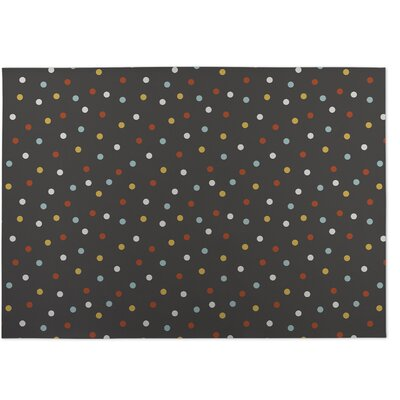 Night Sky Brown/Yellow/Red Indoor/Outdoor Doormat Rug Size: 5 x 7
