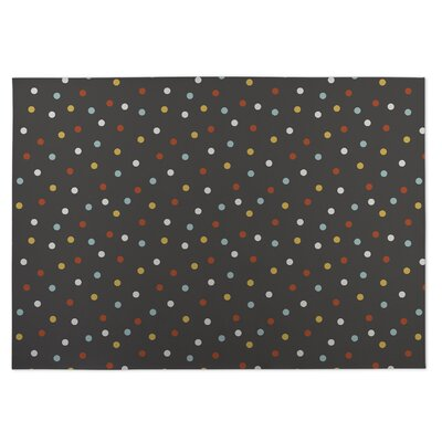Night Sky Brown/Yellow/Red Indoor/Outdoor Doormat Rug Size: 4 x 5