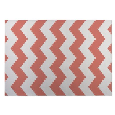 Play Chevron Pink Indoor/Outdoor Doormat Rug Size: Square 8