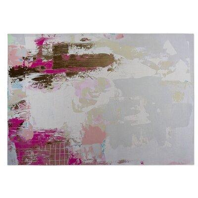 Sherilyn Light Gray/Pink Indoor/Outdoor Doormat Rug Size: 5 x 7