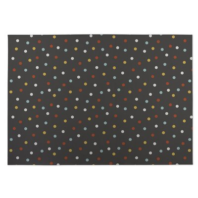 Night Sky Brown/Yellow/Red Indoor/Outdoor Doormat Rug Size: 8 x 10