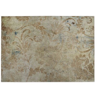 Seraphina Beige Indoor/Outdoor Doormat Rug Size: Square 8