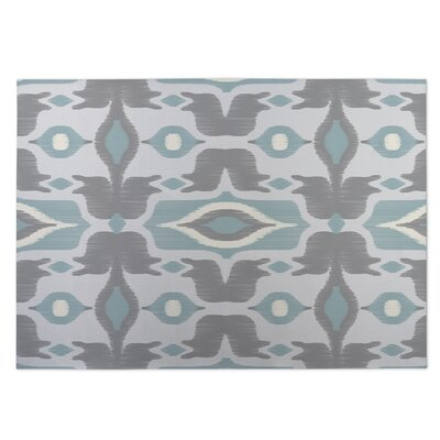 Cosmos Gray/Blue Indoor/Outdoor Doormat Rug Size: 8 x 10