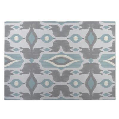 Cosmos Gray/Blue Indoor/Outdoor Doormat Rug Size: 8 x 10