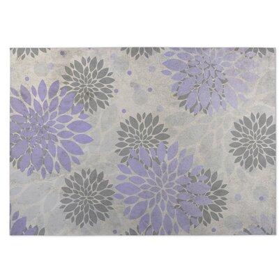 Bloom Purple/Gray Indoor/Outdoor Doormat Rug Size: Square 8
