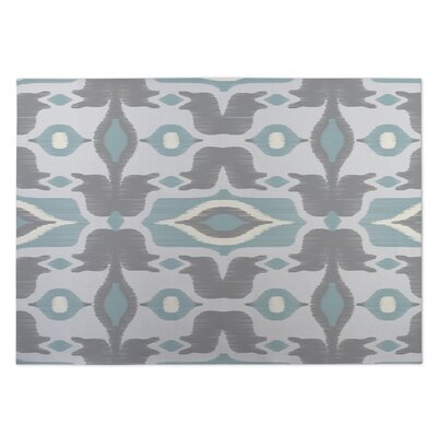 Cosmos Gray/Blue Indoor/Outdoor Doormat Rug Size: 5 x 7