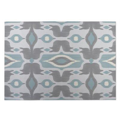 Cosmos Gray/Blue Indoor/Outdoor Doormat Rug Size: 5 x 7