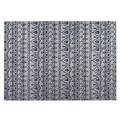 Gray Indoor/Outdoor Doormat Rug Size: 4 x 5