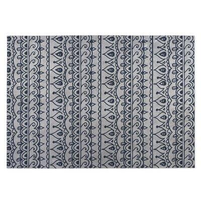 Gray Indoor/Outdoor Doormat Rug Size: Square 8