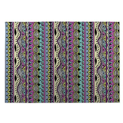 Color Dance Purple Indoor/Outdoor Doormat Rug Size: 5 x 7