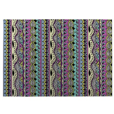 Color Dance Purple Indoor/Outdoor Doormat Rug Size: 8 x 10