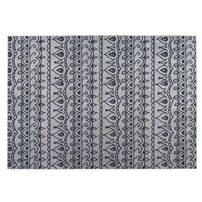 Gray Indoor/Outdoor Doormat Rug Size: 8 x 10