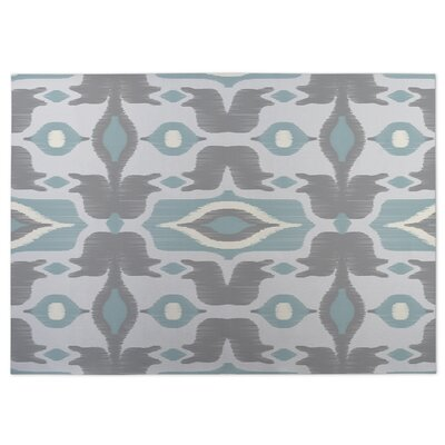 Cosmos Gray/Blue Indoor/Outdoor Doormat Rug Size: 4 x 5