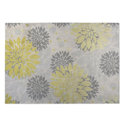 Bloom Yellow/Gray/Beige Indoor/Outdoor Doormat Rug Size: 8 x 10